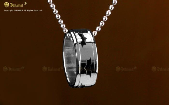 white gold Batman ring