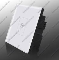 wireless remote control wall light switch, one way crystal glass wireless switch