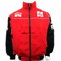 Accept, wholesale, zero,F1 team latest car cotton-padded jacket,coat  embroidery racing clothes! c6