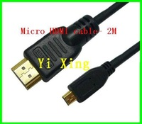 2M micro hdmi cable ,1080P FULL HD,HDMI  A typr to D type cable,100pcs/lot