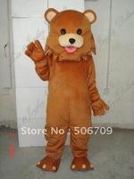 Brown pedo bear animal mascot costume adult size free shipping