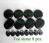 hot sell Massage stones massage lava Natural Energy massage stone set hot spa rock basalt stone 16pcs