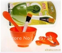 MJR-014 5 sets/lot 4 in 1 DIY Facial Mask Mixing Bowl Brush Spoon Tool