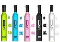 [EMS Free Shipping]Fashion  Bottle Umbrella  Wine Bottle  3-Folding Umbrella Novelty 12pcs/lot NY-021