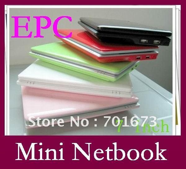 novo 7 polegadas mpe netbook via 8650 800 mhz 256mb/4gb hdd wi-fi& netbooks umpc, janelas ce6.0/android2.2 os 25pcs/lot colorido(China (Mainland))
