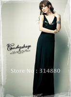 HOT selling,Free shipping retail ladies dress,long dress,V-neck line dress,evening dresses,backless dress,party dress,sexy dress