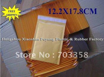 Wholesale 12.2X17.8CM kraft bubble bags/padded envelopes/paper envelope/bubble mailer bags 100pcs.