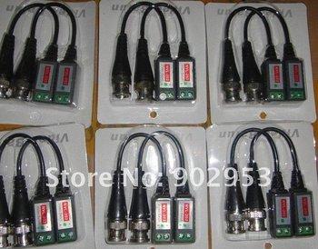 Factory Sales CCTV Camera BNC Passive Video  Balun Transceiver BNC Connectors for CCTV Cameras Lot of 500pcs Free DHL !!!