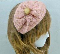 2014 Hot Selling Fashion Kntting Wool Half Cap Headband/ Hairband/Headwrap Autumn Winter Season Trendy Style