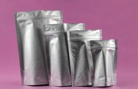 500pcs/lot  Freeshipping 13*18cm Aluminium Foil bag Stand Up Ziplock  Bag Waterproof coffee bag