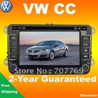 New free shipping car dvd player for Volkswagen CC 2009-2013 with GPS navigation USB SD bluetooth radio TV