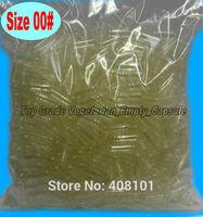 5000pcs Separated EMPTY Vegetarian (Vegi) CAPSULES ~SIZE 00 ~BULK (Kosher) Transparent Clear HPMC Vegetable Empty Capsule
