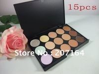 5PCS / LOT high quality make-up Brand 15 different colors Professional Concealer plates cream FREE  SHIPPING