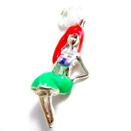 Sale Promotion! DLTSP121 Wholesale Fashion 925 Silver Beauty T.S. Charm With Lobster Clasp,Pendant. High Quality,Factory Price(China (Mainland))