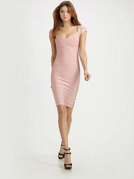 DHL Free shipping! High elastic Pink bandage dress celebrity dresses 2012 Wholse size XXS,XS,S.M,L HL010