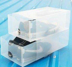 free shipping,shoe storage box,drawer type shoe storage box,165g/pc,5pcs/lot(China (Mainland))