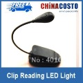 300pcs Clip reading light LED for e-reader Kindle,good quality Nook reading light,USB Cable charging allowed,free fast shipping