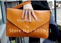 Fashione new candy colors envelop clutch bag,  PU leather bag,   shoulder bag,wholesale,1pcs 1 lot,free shipping