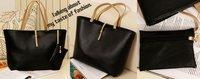 Hot sale+Free Shipping PU Lady's Fashion Handbag; 2012 new messenger fashion bag wholesale and retail Promotion!!