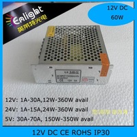 12V 5A 60W non-waterproof switch mode power supply AC100-240V input Aluminum housing,12V 60W Power adapter, 12V5A SMPS