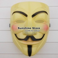 Sunshine store #2M3037 50pcs/lot  yellow Vendetta Mask party  Halloween Mask   for demostration  EMS