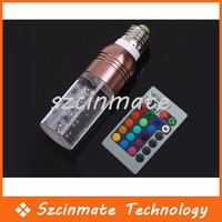 Free Shipping 3W E27 Remote Control RGB Crystal LED Lamp Light  16 Color 50pcs/lot Wholesale