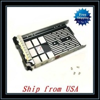 Free Shipping + 5pcs/lot For Dell 3.5 SAS Hard Drive Tray Caddy Sled G302D F238F R710 T610 T710 Ship from USA-CX003