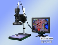 Free Shipping 7-100X  Digital  Micrsoscope with LED ring light  microscope