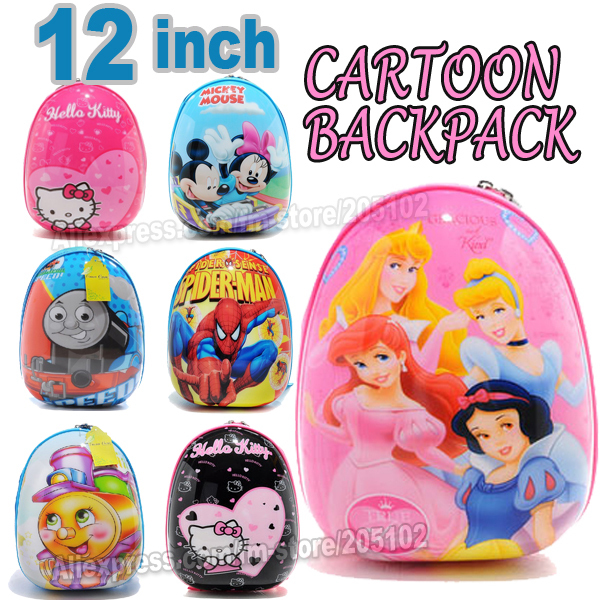 """12"""" inches school bag cartoon children backpack,ABS hard shell luggage/Travel trunk / sports bag traveller case box(China (Mainland))"""