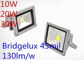 Good quality AC85V-265V or DC12v 10W led floodlight projector reflector bridgelux 1300lm free shipping