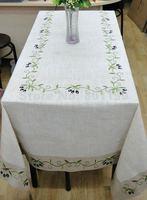 "Olive Branch Tablelinen   150X300cm(59x118"")  OBLONG  Tablecloth"