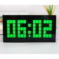 Wholesale Big Home wall clock decoration with timer, date display Free shipping