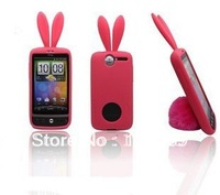 Free shipping! For HTC A8181 A8180 G7 Desire Rabbit silicone cartoon TPU case with high quality, 1pcs Min order