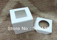 9*9*9 single cupcake box  cake box with pvc window