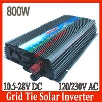 800W Pure Sine Wave Grid Tie Solar Inverter,DC/AC Power Inverter,10.5-28V DC 120/230V AV,CE,