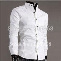 Hot Selling Casual Men's Shirts Fashion Slim Fit Stylish Classic Dress Shirts Men Clothing Color:White,Black,Gray Size:M-XXL