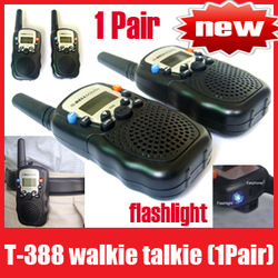 22 Channels Monitor Function Mini Walkie Talkie Travel T-388 Two Way Radio Intercom, Free Shipping+Retail box(China (Mainland))