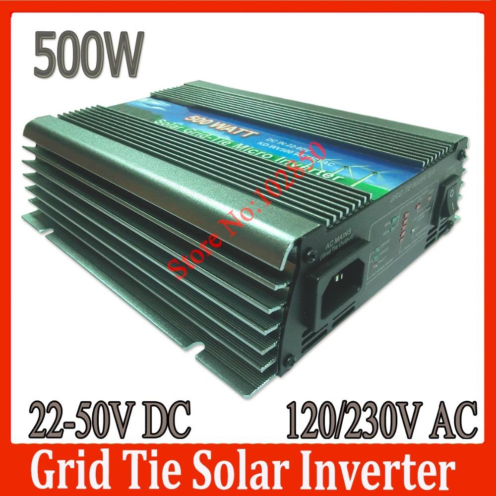 Sale! 500W Solar Grid Tie Inverter, 22-50V DC input, Pure Sine Wave solar power Inverter,CE, stackable power inverter(China (Mainland))
