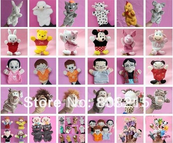 2012 Hot sale-free shipping Popular Plush Toy 10pcs/lot family finger puppet animal finger puppet,,finger puppet .Children gifts