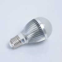 Holiday sale Free shipping 3W , 5w ,  100-240V /silver led globe bulb E27/GU10/B22 lamp ball bulb LED Energy Saving Light Bulb