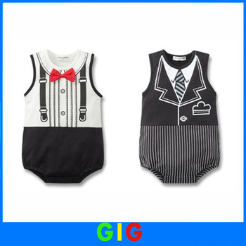 CPAM Free shipping Baby boy tuxedo boy romper,Baby jumpsuit, Baby clothes baby romper gentleman romper