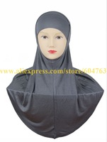 HT014 One BAG 10pcs white,black or mix colors SOLID COLOR PLAIN Softy cotton TWO piece muslim hijab,2 piece HIJAB