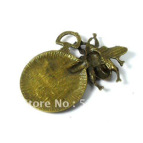 Wholesale-Metal charm antique bronze Bell pendant 8PCS zinc alloy Pendant handmade Fashion jewelry accessories