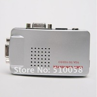 Universal PC VGA to TV AV RCA Signal Adapter Converter Video Switch Box Supports NTSC PAL system