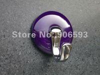 10pcs lot free shipping Lyons blue porcelain 3M sticky hook\bathroom hook\zamak hook