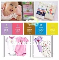 Free shipping! Pure cotton CARTER's Baby rompers/wear/clothing/clothes, Infant&Toddles short sleeve romper for baby, 0-24M
