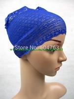 UA001 fashion lace  muslim underscarf free shipping