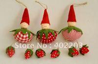 christmas decoration-fabic fruit girl hanger-10designs-sending by randomly-free shipment