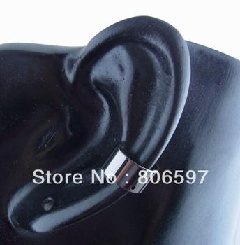(50pcs/lot) 10*6mm fashion black gun platded ear cuff with 1mm hole cool cuff earrings wh150