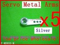 F01474-5,  Hot Sale New F-MD933-M Servo Metal Arms For MD922 MD933  Trex 450